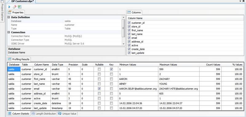 Informatica Data Profiling Solution – Data Explorer