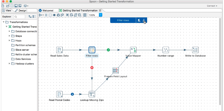 Pentaho Data Integration Print Screen