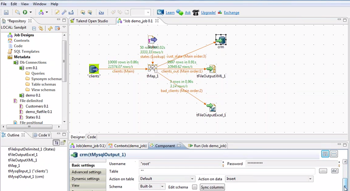 Talend Data Integration print screen