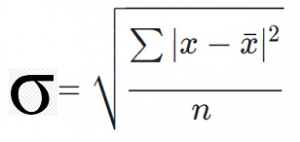 The Standard Deviation Formula for an entire population