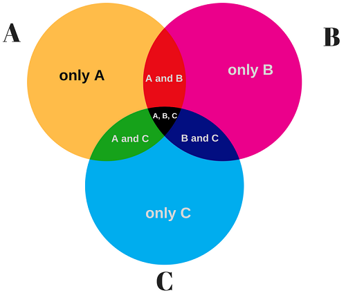 3 Circle Venn Diagram Example 1