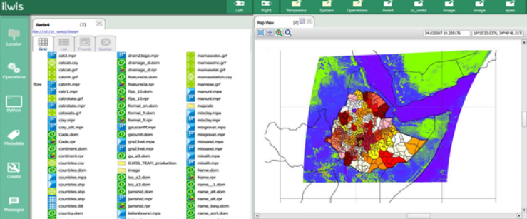 ILWIS mapping software screenshot