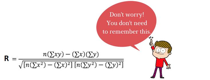 correlation coefficient formula 1