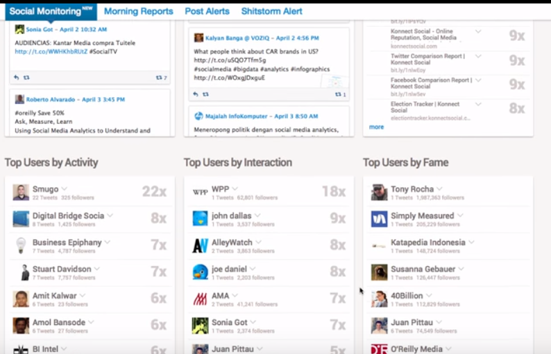 Fanpage Karma - social media intelligence screen shot