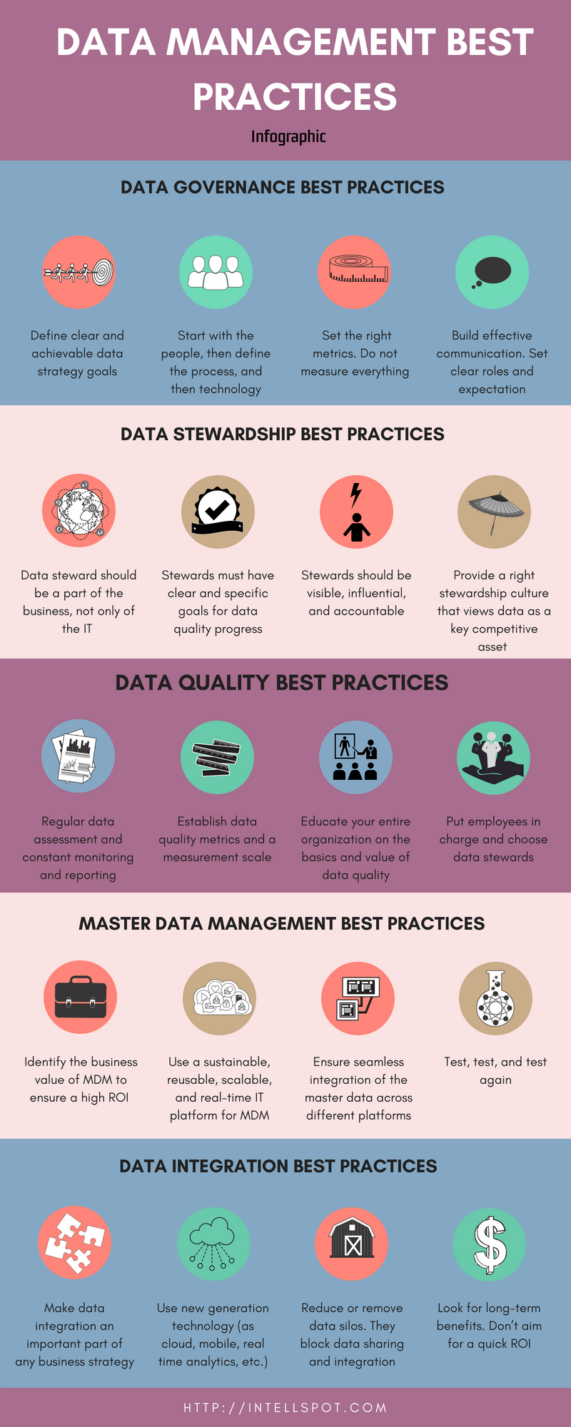 Data Management Best Practices - infographic