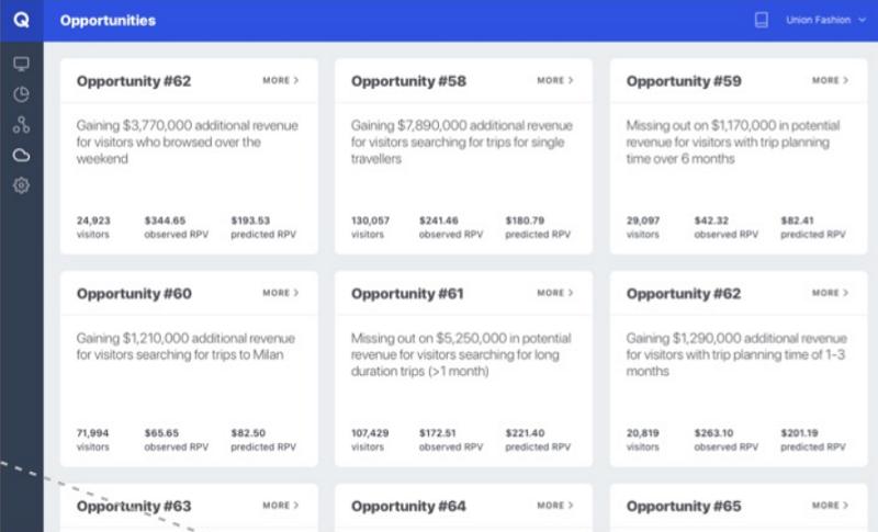 Qubit - Customer Experience Management - print screen