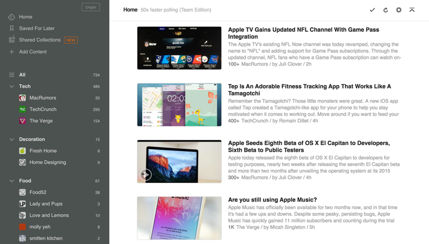 Feedly - free online news aggregator site