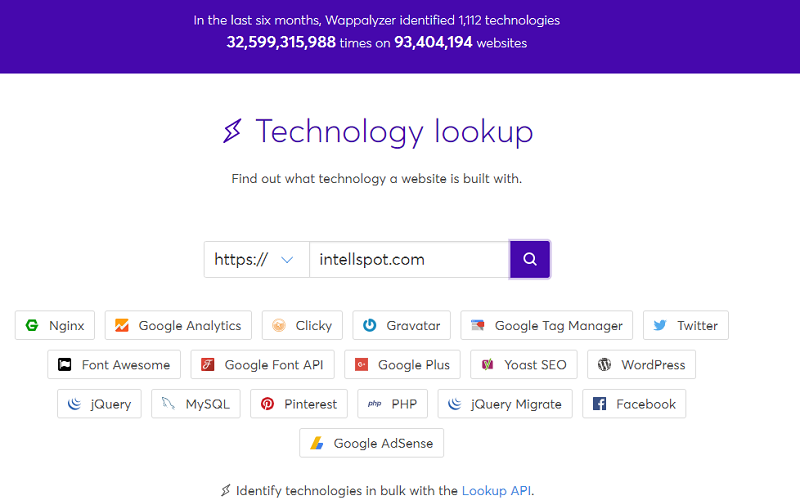 Wappalyzer a free online tool for uncovering what technology is used on your competitors' websites at no cost