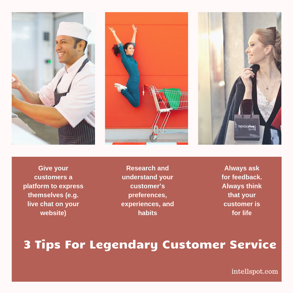Tips For Legendary Customer Service - infographic