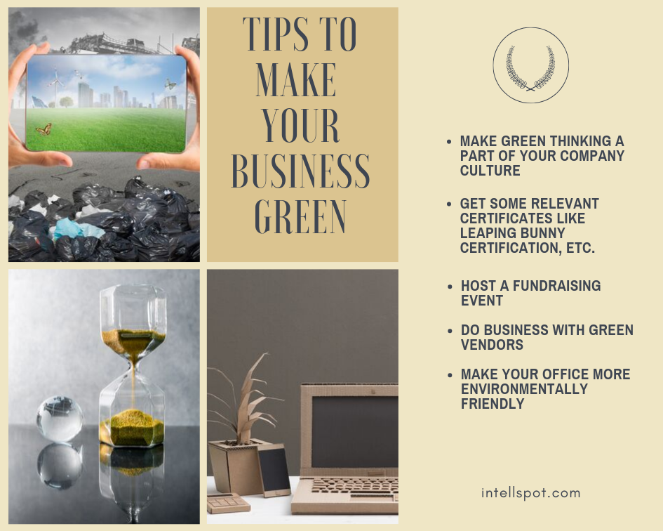 Tips To Make Your Business Green - an infographic