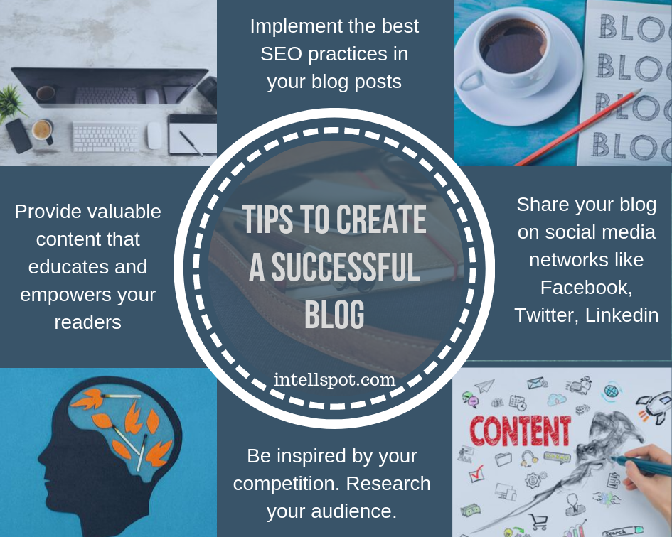 Tips to create a sucessful blog - infographic