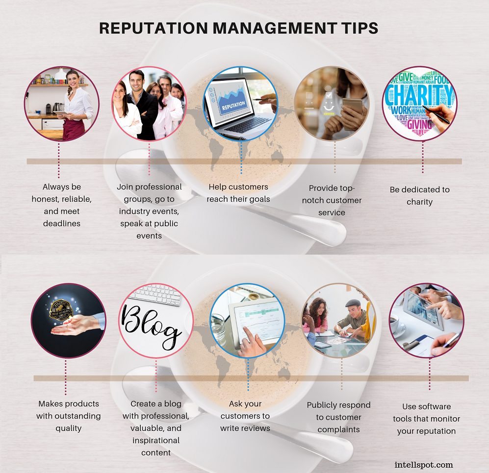 reputation management tips - an infographic