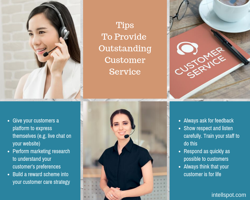 tips for outstanding customer service - infographic